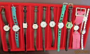CHOOSE ONE: 10 Brownie & Girl Scout Official Watches 3=Working, Display Collect