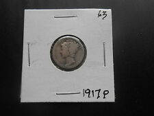 1917  Mercury Silver Dime circulated #63 you Grade it!!