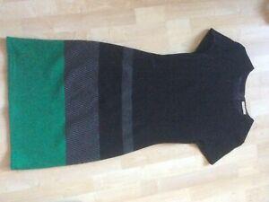 Boss Kleid Schwarz-grün, Hanine, Größe 40, Getragen