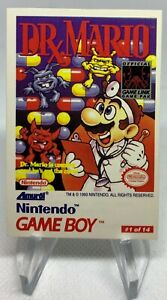 1993 Nintendo Game Boy Amurol #1 Dr. Mario /(Tips 1, 2, 3)
