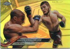 2018 Topps UFC Chrome KHABIB NURMAGOMEDOV Silver Refractor Card No 15