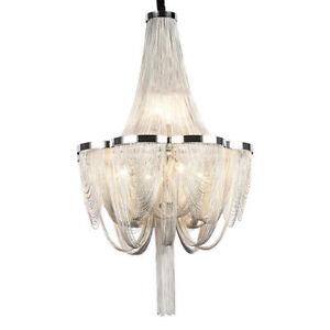 Modern Creative Aluminum Chain Tassel LED chandelier Hotel lamp Can Be Customize
