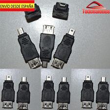 Convertidor Adaptador clavija conector de USB Hembra a mini usb macho male