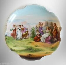 Victoria Austria vintage charger plate with victorian scenes - FREE SHIPPING