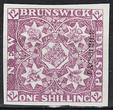 New Brunswick 1s Heralidic Flowers Argentia Forgery Type 3C, VF MNG, est - $300