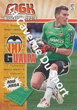 N°308 VICENTE GUAITA PANADERO # ESPANA VALENCIA.CF CARD PANINI MGK LIGA 2014