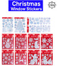 WINDOW STICKERS CHRISTMAS Santa Removable Gel Decal Wall Home Shop Decor UK