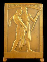 Medal Allegorie D L'Self-Help Cochet 1933 Allegory of Mutual Caring Help Medal