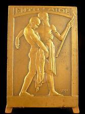 Médaille allégorie d l'entraide Cochet 1933 allégory of Caring mutual help Medal