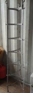 Vintage Large Steel KITCHEN POT & LID STAND - Rare Find!!