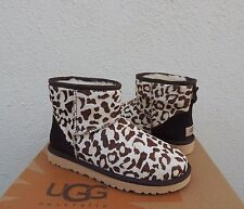UGG CLASSIC MINI SPRING LEOPARD CALF HAIR SHEEPSKIN BOOTS, US 7/ EUR 38 ~ NEW