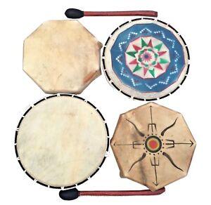 Shamanic Shaman Tribe Drum Octagonal Round Ritual Music Sound Therapy CHOICE