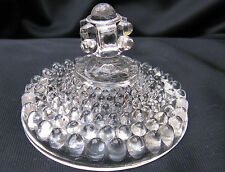 1891 EAPG Pattern Glass Adams Hobnail Pointed Ball Feet Sugar Bowl Lid,