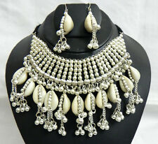 Earring Belly Dancegypsy Ats Boho Nw Kuchi Ethnic India Tribal Cowries Necklace