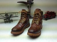 BROWN TIMBERLAND MADE IN USA DISTRESSED LACE UP HIKING TRAIL BOOTS SIZE 7.5 M