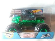 HOT HOTWHEELS MONSTER JAM TRUCK 1:24 35TH ANNIVERSARY GRAVE DIGGER DIE CAST BODY