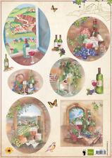 BEAUTIFUL  NON DIE CUT CHARDONNEY WINES TOPPERS FOR CARDS AND CRAFTS -