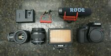 Canon EOS Rebel T7i / EOS 800D 24.2MP Digital SLR Camera -Black 2 lens/flash/mic
