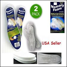 !New! 2 Pairs Memory Foam Shoe Insoles Comfort Unisex Cushion Foot Pad Orthopedi