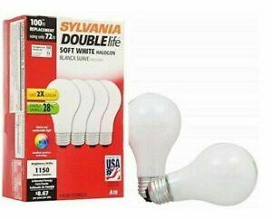 Sylvania 72w Halogen Super Soft White Bulb, A19 Soft White Pack of 4