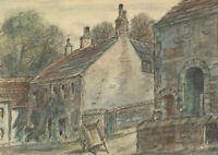 Henry E. Foster (1921-2010) - 1968 Watercolour, A Corner of the Village, Wray