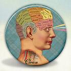 Clean Mind Phrenology Style Pocket Mirror tartx