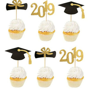 12pcs  Graduation Cupcake Toppers 2019 Party Decorations Supplies Cake Topper