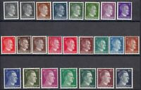 Germany 1941 MNH Mi 791-798 Adolf Hitler. Set with five shadows of 24 stamps **