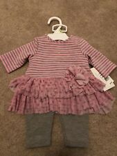 BRAND NEW W/ TAGS baby Girl Marmellata Outfit Pink Gray 3-6 Months