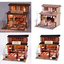Baoblaze 1:24 DIY Dollhouse Wooden Model Kits -Grill House & Beancurd Mill