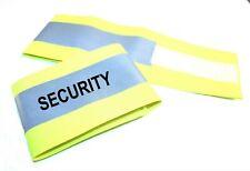 "XL Hi Visibility Reflective Yellow Armband Printed SECURITY 18"" x 4"" Adjustable"