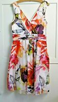 BNWOT NEXT Dress Sleeveless Multicoloured Summer Small Size 12 / Size 10