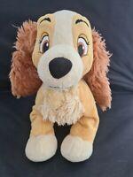 "Genuine Original Disney Store  Lady and the Tramp 'Lady' 12"" Plush Soft Toy Dog"