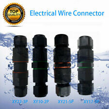 IP68 Waterproof Electrical Cable Wire 2/3/5 Pin Connector Outdoor Plug Socket