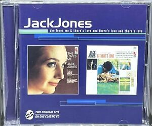 JACK JONES - SHE LOVES ME / THERE'S LOVE & THERE'S LOVE & THERE'S LOVE, CD ALBUM