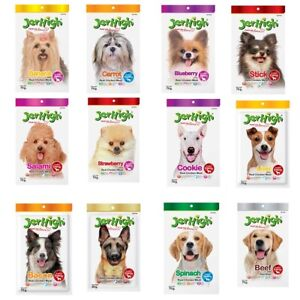 Jerhigh Dog Stick Snack Food Puppy Meat Meal Energy Pet Protein Chicken Real 70g