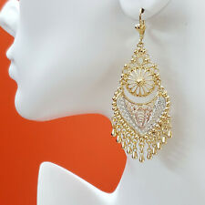 Chandelier Earrings. Aretes Folklorico 14K Gold Plated. Oro laminado