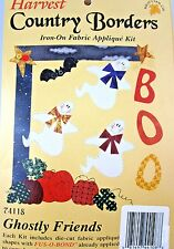 HALLOWEEN Fabric Applique Kit Ghosts Pumpkins Boo FRIENDS What's New Iron On