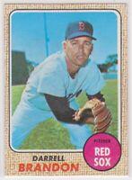 1968 Topps DARRELL BRANDON - Baseball Card # 26 - BOSTON RED SOX