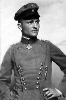 Red Baron- Manfred Albrecht Freiherr von Richthofen - Year 1917-8x12 Photo