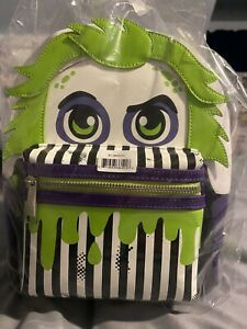 Loungefly Beetlejuice Exclusive Stripe Cosplay Mini Backpack