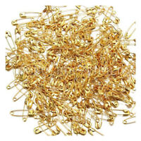300X Small Safety Pins Gold Color 18mm Brass Metal Sewing Craft Mini Pins S4N3