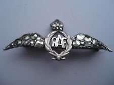 C1930S VINTAGE R.AF.SILVER&MARCASITE SWEETHEARTS PIN BROOCH