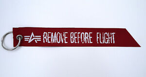 ALPHA INDUSTRIES Remove Before Flight Flag Key Chain (One)