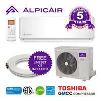 AlpicAir 12,000 BTU Ductless Mini-Split Air Conditioner Heat Pump System
