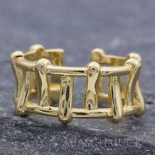 Silberring Silber 925 Ring Verstellbar vergoldet Offen R0909 breit  Edel schick