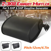 Universal Exhaust Muffler 2-3KW For 5.5HP 6.5HP 3500W 4000W Gasoline p Q