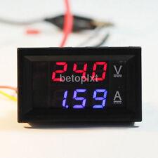 DC 100V 10A Voltmeter Ammeter Dual Color Display Amp Digital Volt Meter Gauge fr