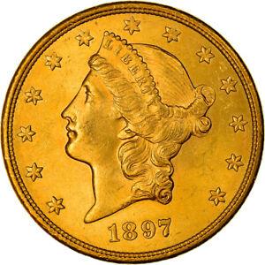 [#841453] Coin, United States, Liberty Head, $20, Double Eagle, 1897, U.S. Mint