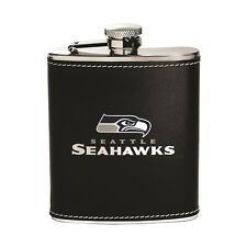 Seattle Seahawks Stainless Steel Flask [NEW] NFL Leather Drink Tailgate